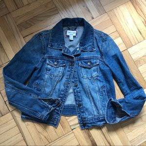 F21 destroyed denim jacket